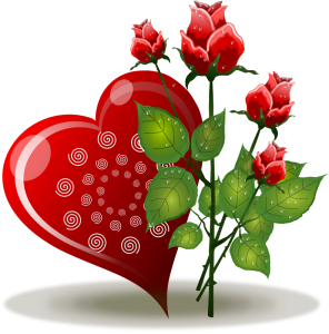 Heart and rose png